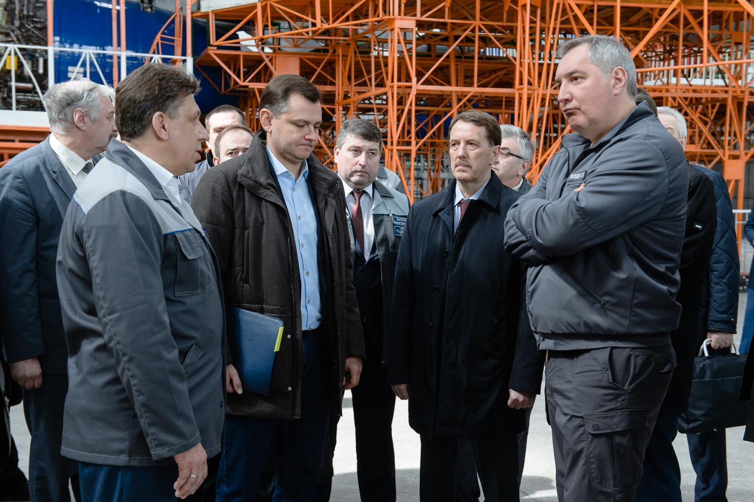 Рабочая поездка Рогозина 15 апреля 2017 года на ВАСО